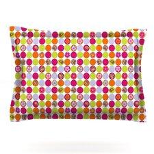 Happy Circles by Julia Grifol Woven Pillow Sham
