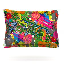 Psychedelic Garden by Frederic Levy-Hadida Woven Pillow Sham
