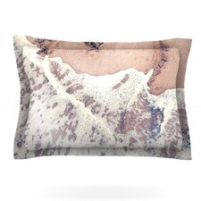 Heart in the Sand by Nastasia Cook Woven Pillow Sham