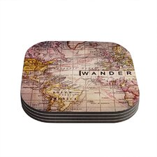 Wander by Sylvia Cook Coaster (Set of 4)