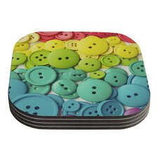 Cute As A Button by Libertad Leal Coaster (Set of 4)