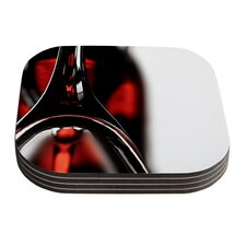 Red for Two by Ingrid Beddoes Coaster (Set of 4)