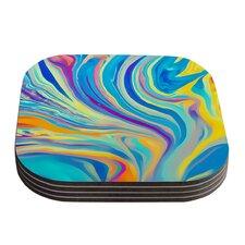 Rainbow Swirl by Ingrid Beddoes Coaster (Set of 4)