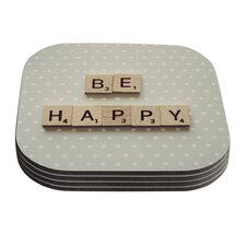 Be Happy by Cristina Mitchell Coaster (Set of 4)