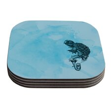 Turtle Tuba III by Graham Curran Coaster (Set of 4)