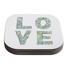 Four Letter Word by Skye Zambrana Coaster (Set of 4)