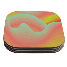 Way of the Waves by Akwaflorell Coaster (Set of 4)