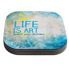 Life Is Art Coaster (Set of 4)
