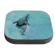 Shark Record III by Graham Curran Coaster (Set of 4)