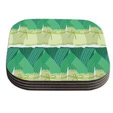 Leeks by Laura Nicholson Coaster (Set of 4)