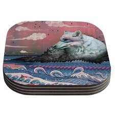 Lone Wolf by Mat Miller Coaster (Set of 4)