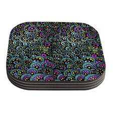 Peacock Tail by Pom Graphic Design Coaster (Set of 4)