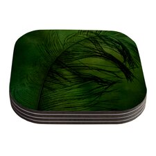 Feather by Robin Dickinson Coaster (Set of 4)