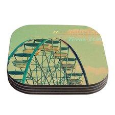 Ferris Wheel by Robin Dickinson Coaster (Set of 4)