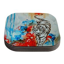 Tiger by Sonal Nathwani Coaster (Set of 4)