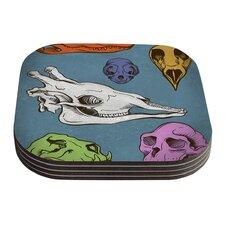 Skulls by Sophy Tuttle Coaster (Set of 4)