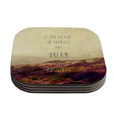 Believe by Ingrid Beddoes Coaster (Set of 4)
