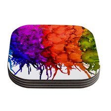 Rainbow Splatter by Claire Day Coaster (Set of 4)