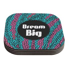 Dream Big by Pom Graphic Design Coaster (Set of 4)