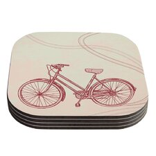Bicycle by Sam Posnick Coaster (Set of 4)