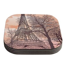 Eiffel Tower by Sam Posnick Coaster (Set of 4)