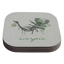 Scorpio by Belinda Gillies Coaster (Set of 4)
