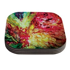 Passion Flowers I by Mary Bateman Coaster (Set of 4)
