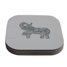 Elephant by Belinda Gillies Coaster (Set of 4)