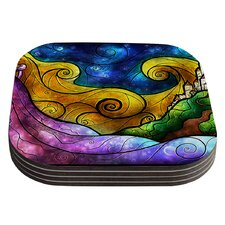 Starry Lights by Mandie Manzano Coaster (Set of 4)