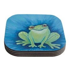 Ribbit Ribbit by Padgett Mason Coaster (Set of 4)
