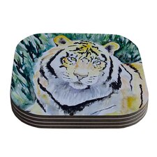 Tiger by Padgett Mason Coaster (Set of 4)