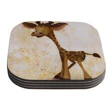 Georgey The Giraffe by Rachel Kokko Coaster (Set of 4)