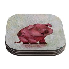 This Little Piggy by Rachel Kokko Coaster (Set of 4)