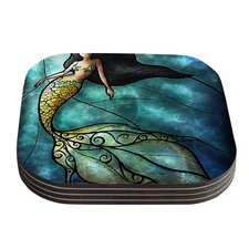 Mermaid by Mandie Manzano Coaster (Set of 4)