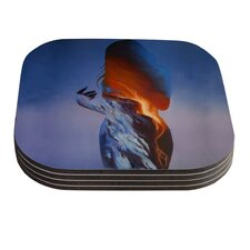 Volcano Girl by Lydia Martin Coaster (Set of 4)