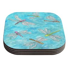 Dragonfly by Rosie Coaster (Set of 4)