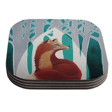 Fox Forest by Lydia Martin Coaster (Set of 4)