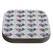 Polka Dot Diamonds by Vasare Nar Coaster (Set of 4)