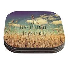 Life by Alison Coxon Coaster (Set of 4)