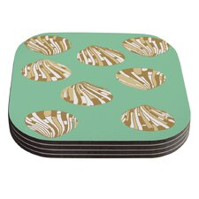 Scallop Shells by Rosie Coaster (Set of 4)