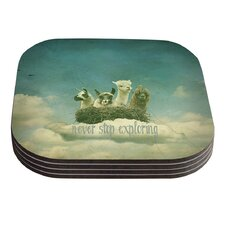 Never Stop Exploring by Monika Strigel Coaster (Set of 4)