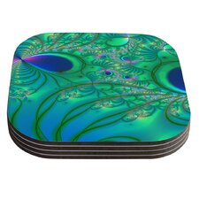 Fractal by Alison Coxon Coaster (Set of 4)
