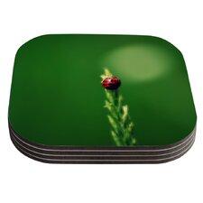 Ladybug Hugs by Robin Dickinson Coaster (Set of 4)