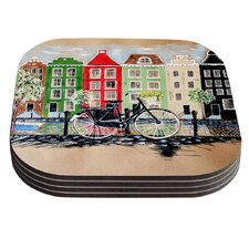 Bicycle by Christen Treat Coaster (Set of 4)