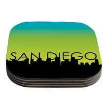 San Diego Green Coaster (Set of 4)