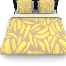 Yellow Feather Duvet Cover