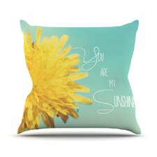 You Are My Sunshine by Beth Engel Flower Throw Pillow