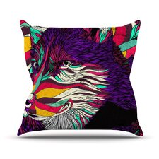 Color Husky by Danny Ivan Throw Pillow