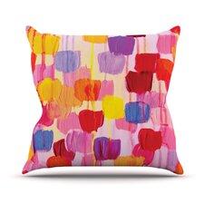 Dotty in Pink by Ebi Emporium Throw Pillow