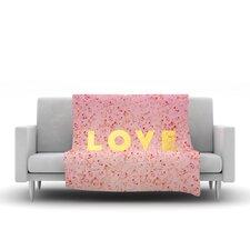 Love Roses by Leah Flores Fleece Throw Blanket